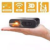 Mini Projecteur- Artlii Mana DLP 3D WiFi Pico videoprojecteur Portable Video retroprojecteur de Poche extérieur Batterie Rechargeable pour Proposer Mariage compatibles avec iphone et Android