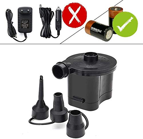 3T6B Battery Powered Air Pump Quick Inflator & Deflator for Air Beds Toys Lilos Pools (4 D Battery)