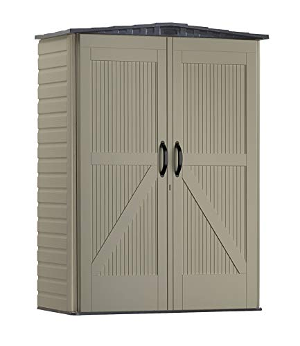 Rubbermaid Roughneck Small Vertical Resin Weather Resistant Outdoor...