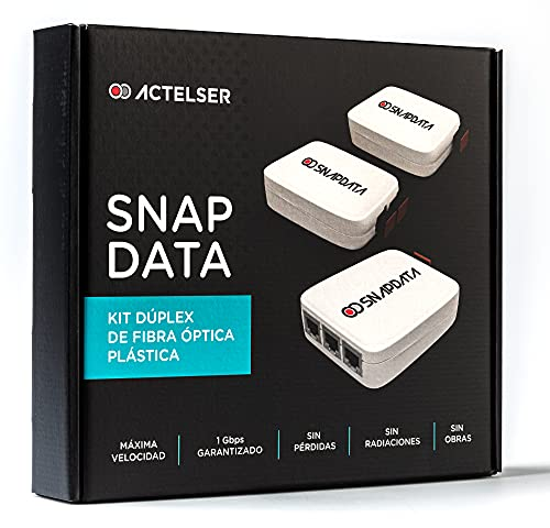 ACTELSER Kit Duplex de Fibra Óptica Plástica Snap Data (50