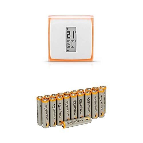 Netatmo Thermostat Connecté pour chaudière individuelle avec les batteries AmazonBasics