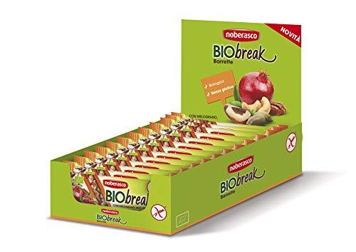 Noberasco Bio Break con Melograno Noci Pecan e Noci del Brasile, 24 barrette da 35 gr