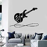 Arte Decoración Guitarra Eléctrica Pared Música Rock Instrumentos Vinilo Música Habitación Niño Dormitorio Decoración | Adecuado para niños y niñas, dormitorio, jardín de infantes, fiesta, boda