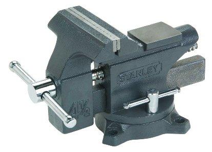 Stanley Maxsteel Schraubstock leichte Ausführung 1-83-065 – Gusseiserner Tischschraubstock mit 85mm Ausladung, 100mm Spannweite & 110kg Spannkraft für den vielseitigen Einsatz