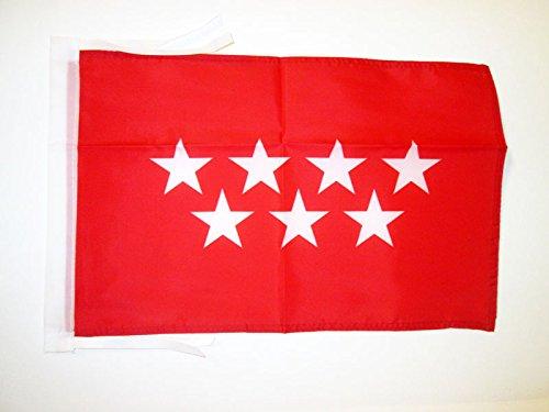 AZ FLAG Bandera de la Comunidad DE Madrid 45x30cm - BANDERIN