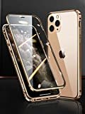 iPhone 12 Pro Max ケース アイホン12promax 対応 Uovon スマホケース アルミバンパー 両面ガ……