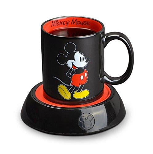 Disney DMG18 Calentador de taza, Mickey Mouse, Negro, 10 onzas (295.73ml), 1