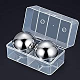 Whiskey Stones, Large Metal Whiskey Stones Balls Reusable Stainless Steel Ice Cubes, Won't Dilute...