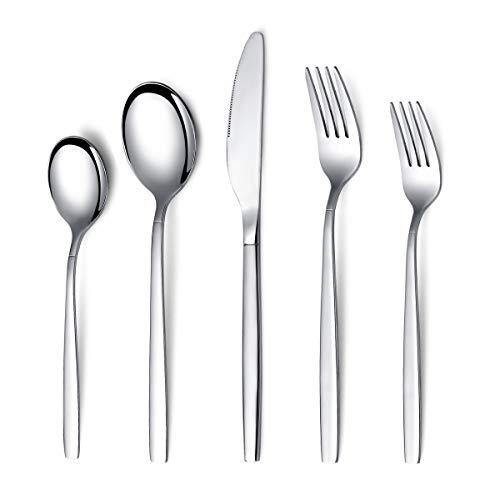 Berglander Flatware Set 20 Pieces, Stainless Steel Flatware Set, Silverware Set Service For 4