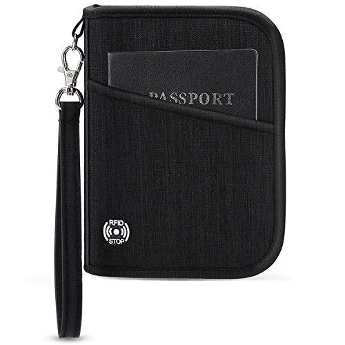 Vemingo Porte-Passeport Portefeuille de Voyage avec Blocage RFID...