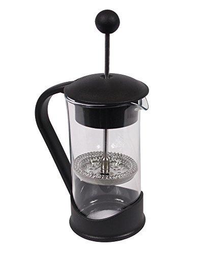 Clever Chef - Cafetera de prensa francesa - Café con un gran sabor y una filtración inmejorable - Pequeña - Negro - Capacidad para 2 tazas (0,4 litros)