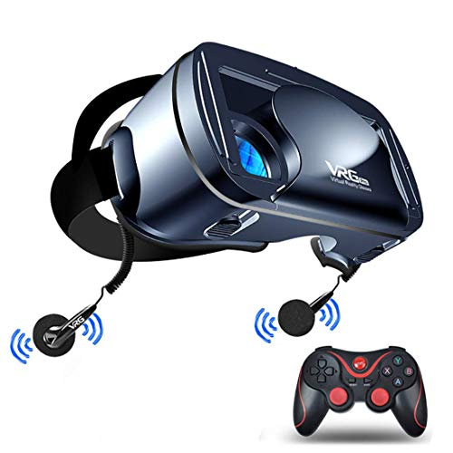 LL dawn Virtual Reality Headset, Full-Screen 3D VR Glasses, 120-Degree Wide-Angle Lens (for 5 to 7-Inch Smartphone Goggles)