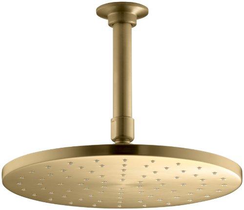 KOHLER 13689-BGD 10 Contemporary Round RAIN SHOWERHEAD, Vibrant Moderne Brushed Gold
