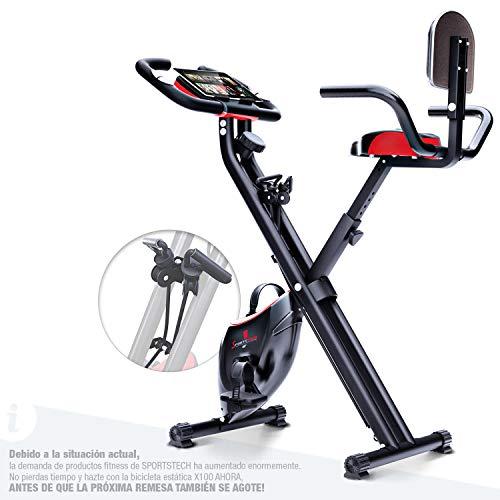 Sportstech Bicicleta estática Plegable