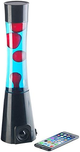 Lunartec Licht: Lavalampe rot/blau mit 10-Watt-Lautsprecher, Bluetooth 4.1 und AUX-In (Lava-Leuchte)