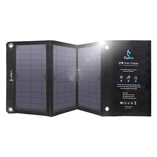 21W Panneau Solaire Portable BigBlue Chargeur Solaire Pliable avec 2 USB,...