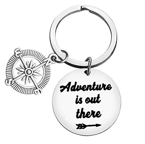 Porte-clés Adventure is Out There - Porte-clés de voyage - Pour homme et...