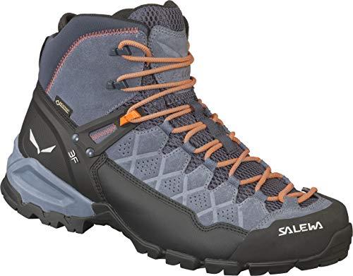 Salewa Herren MS ALP Trainer MID GTX Trekking- & Wanderstiefel, Blau (Ombre Blue/Fluo Orange 3845), 44 EU