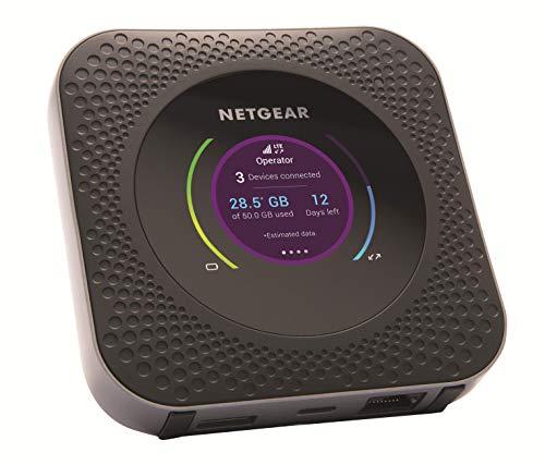 NETGEAR Routeur mobile 4G, Nighthawk M1 Routeur 4G LTE MR1100 - débit descendant jusqu'à 1Gbps   Connexion WiFi jusqu'à 20 appareils   Crée un WLAN n'importe où   Déverrouillé compatible toute SIM