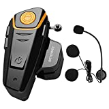 Intercom Moto Bluetooth, BETOWEY BT-S2 Kit Oreillette Bluetooth Casque Moto Interphone Main Libre -...