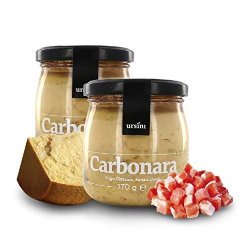 Ursini Salsa carbonara sin Huevo, Salsa Gourmet para Pasta - 170 gr (Paquete de 2 Piezas)