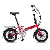 ZXYY Vélo Pliant 16 Pouces Hommes et Femmes modèles vélo Pliant léger...