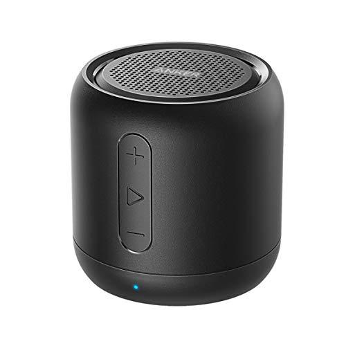 Anker SoundCore mini Bluetooth Lautsprecher, Kompakter Lautsprecher mit 15 Stunden Spielzeit, Fantastischer Sound, 20 Meter Bluetooth Reichweite, FM Radio und intensiver Bass