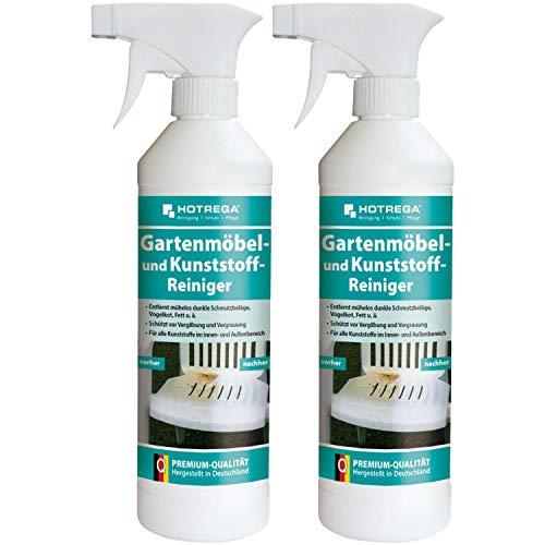 Hotrega Detergente per mobili da giardino e plastica, in confezione da 2 flaconi da 500 ml (etichetta in lingua italiana non garantita)