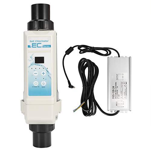 Zouminyy EC20 20g/H générateur de Chlore au sel électrolyseur chlorateur au sel de Piscine 100-240V (Tension Large)