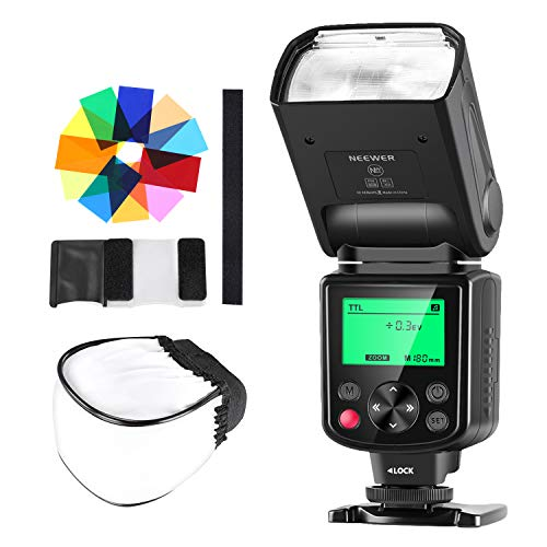 Neewer Kit TTL Speedlite Flash 750II con Diffusore Solido, 12 Filtri Colorati , per Nikon D7200 D7100 D7000 D5500 D5300 D5200 D5100 D5000 D3300 D3200 & Altre Reflex Digitali