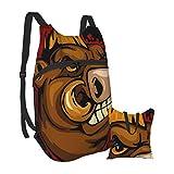 Wild Boar Head Mochila ligera plegable para senderismo, impermeable, para hombres y mujeres