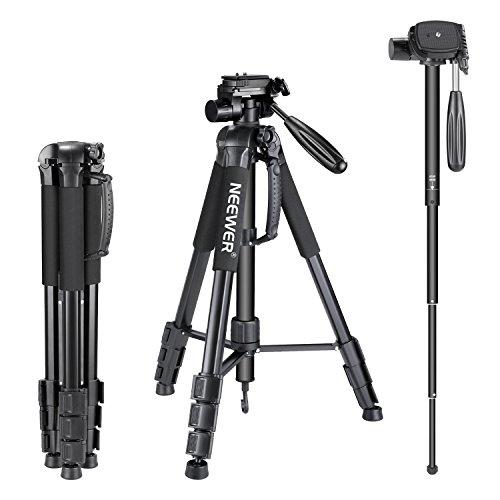 Neewer Portable Aluminum Alloy Camera 2-in-1 Tripod