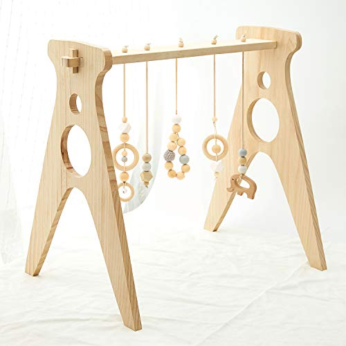 AWUYI Wood Baby Gym