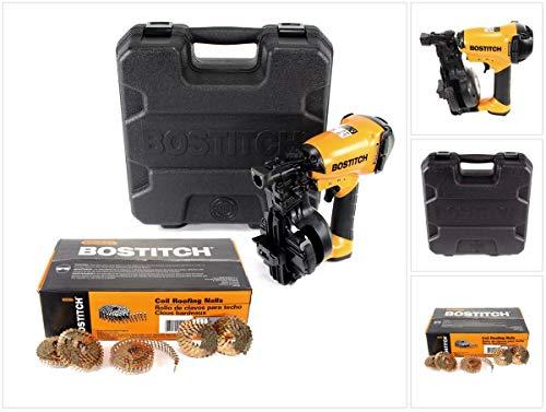 Bostitch RN46K-1-E CT Dachpappnagler Druckluftnagler Coil nailer 45mm + 7200 Dachpappnagel + Koffer