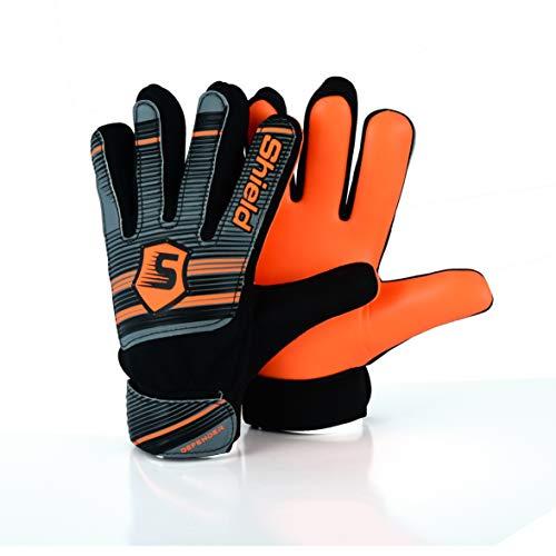 Shield Torwarthandschuhe Fussballhandschuhe Kinder Jungen ECONOTECH (Orange, 7)