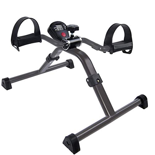Vaunn Medical Folding Pedal Exerciser With Electronic Display for legs & Arms Workout (Fully Assembled Exercise Peddler, No Tools Required)