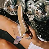 YHCS Moda Sandalias de Verano PVC Crystal High Toel Toels Alto Tacones Altos Mujeres Transparentes...