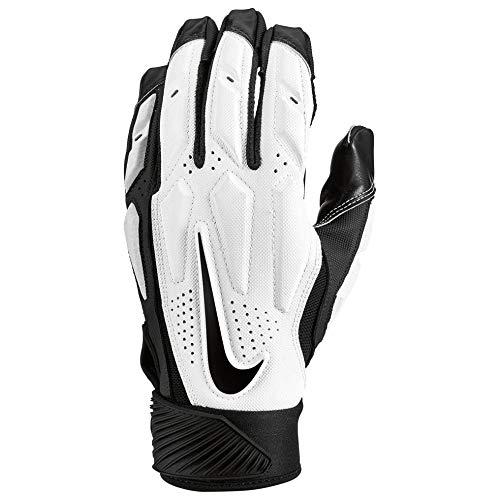 Nike Mens D-Tack 6 Lineman Gloves (X-Large, White/Black)