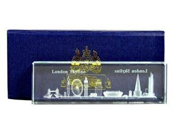 Laser Art Crystal - London Skyline (Short), Detailing all Popular Iconic Landmarks of London