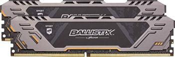 Crucial Ballistix Sport AT BLS2K8G4D32AESTK 3200 MHz, DDR4, DRAM, Mémoire Kit pour PC de Gamer, 16Go (8Gox2), CL16