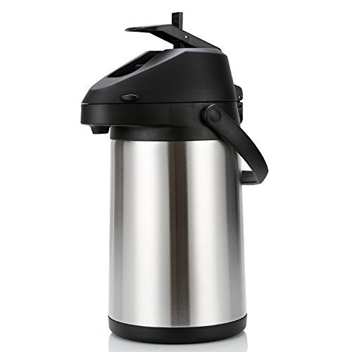 Household insulation Large capacity stainless steel push-type kettle Kettle warm water bottle (Capacity : 5L)