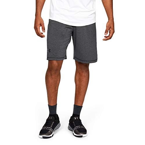 Under Armour Men's Raid 10-inch Workout Gym Shorts, Carbon Heather (090)/Black, Medium