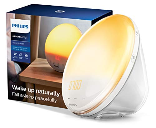 Philips SmartSleep Wake-up Light, Colored Sunrise and Sunset...