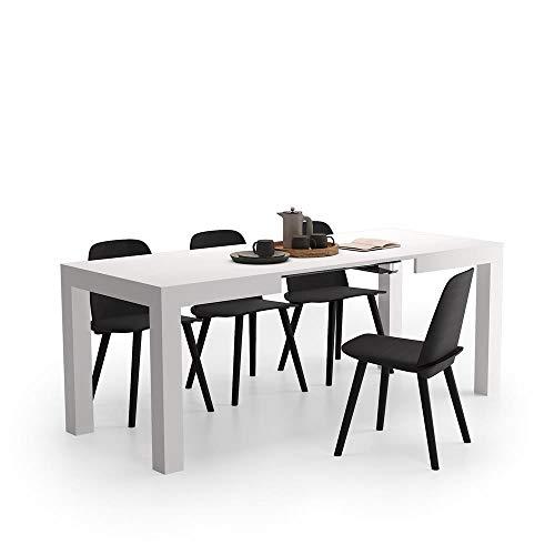 Mobili Fiver, Tavolo Allungabile First, Bianco Frassino, 120 x 80 x 76 cm, Nobilitato, Made in...