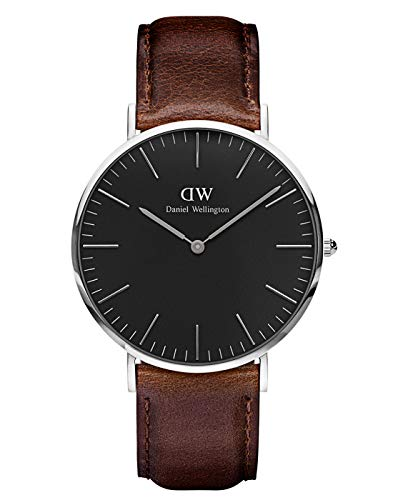 Daniel Wellington Classic Bristol, Dunkelbraun/Silber Uhr, 40mm, Leder, für Herren