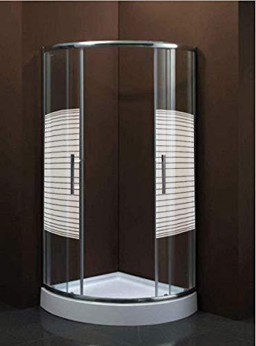 Duschkabine Duschwand Duschabtrennung Eckdusche, Echtglas, Schiebetür mit Tasse 80x80x195 oder 90x90x195, Viertelkreis Eckig