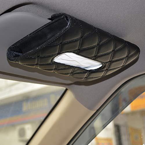 Autofurnish 7D Car Sun Visor Tissue Holder Box with Free Tissues(Black)