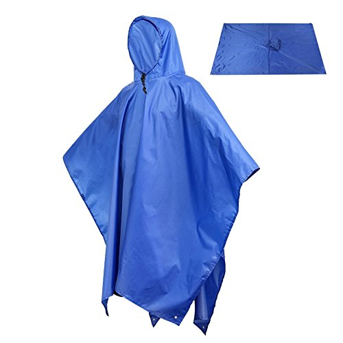 Rain Poncho, Sotical Veamor 3 in 1 Multifunctional
