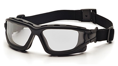 Pyramex I-Force Sporty Dual Pane  Anti-Fog Goggle, Black Frame/Clear Anti-Fog Lens