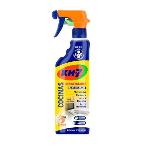 KH-7 Cocinas Desinfectante - Limpieza y Desinfección para la Cocina de Fácil Aclarado, Uso Diario, Fórmula sin Lejía con Aroma a Mandarina e Iris Blanco - 750 ml